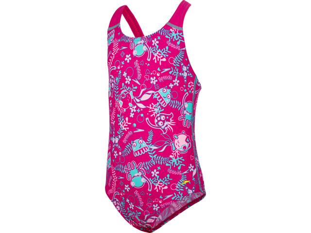 speedo Seasquad Allover Swimsuit Children pink at Bikester.co.uk 54dd096c0f4a1
